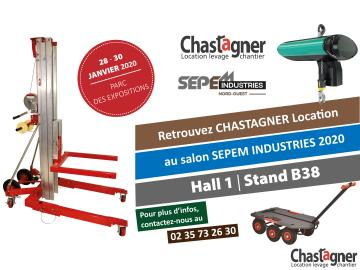 CHASTAGNER Location au salon SEPEM INDUSTRIES Rouen | Janvier 2020