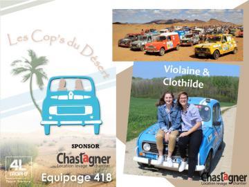 CHASTAGNER LOCATION SPONSOR POUR LE 4L TROPHY - LES COP'S DU DÉSERT