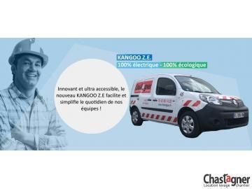 Arrivée du véhicule électrique chez CHASTAGNER Location