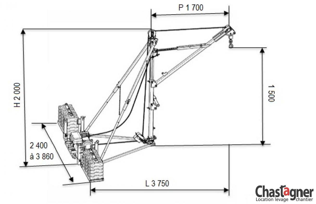 chastagner   location grue de terrasse  u00e9lectrique 250 kg