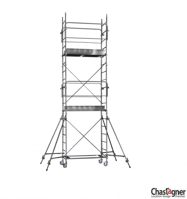 chastagner location chafaudage roulant aluminium hauteur 7 30 m. Black Bedroom Furniture Sets. Home Design Ideas