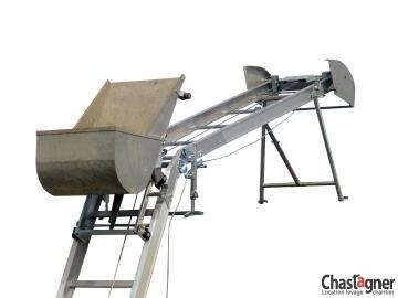 Benne à béton 85 l avec appui de tête pour échelle monte-matériaux