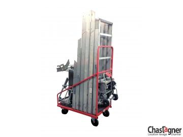 Chariot de rangement pour échelle monte-matériaux