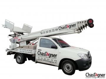 Monte-meubles sur véhicule Shorty 25 m avec opérateur