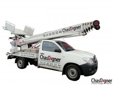 Monte-meubles sur véhicule Shorty 29 m avec opérateur