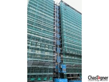 Porte coulissante pour ascenseurs de chantier 1400 kg