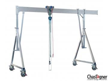 Portique en aluminium roulant 1500 kg/4 m