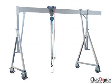 Portique en aluminium roulant 1500 kg/3 m