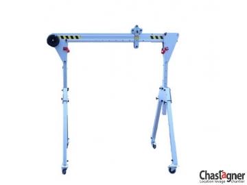 Portique en aluminium roulant 500 kg/2 m compact
