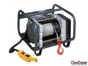 Treuil au sol électrique compact 500 kg rallongé avec variateur de vitesse