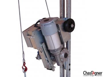 Treuil électrique à câble passant 1 000 kg avec sécurichute