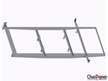 Porte-plaques horizontal pour échelle monte-matériaux