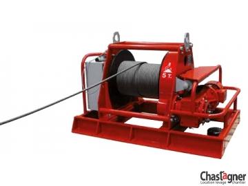 Treuil au sol électrique de grande capacité 5000 kg rallongé avec variateur de vitesse