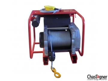 Treuil au sol électrique compact 600 kg avec variateur de vitesse