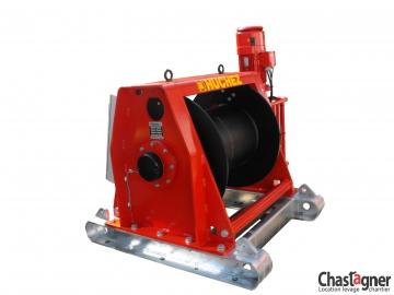 Treuil au sol électrique de grande capacité 11000 kg avec variateur de vitesse