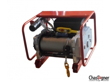 Treuil au sol électrique compact 600 kg rallongé avec variateur de vitesse