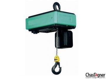 Palan électrique à chaîne 500 kg monophasé fixe