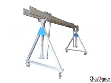 Portique en aluminium roulant 1500 kg/5 m