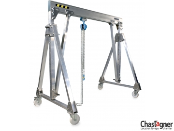 Portique en aluminium roulant 1600 kg/4 m