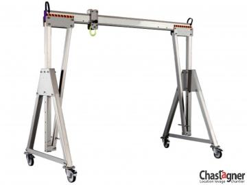 Portique en aluminium roulant 3000 kg/4,5 m