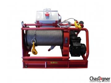 Treuil au sol électrique grande capacité 1300 kg avec variateur