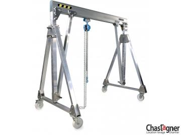 Portique en aluminium roulant 2000 kg/4 m